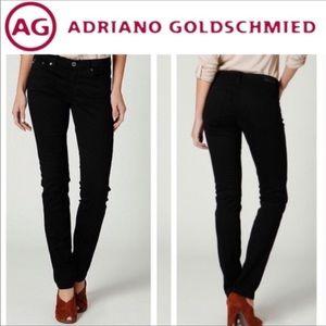 AG The Stevie Slim Straight Black Jeans Size 29R